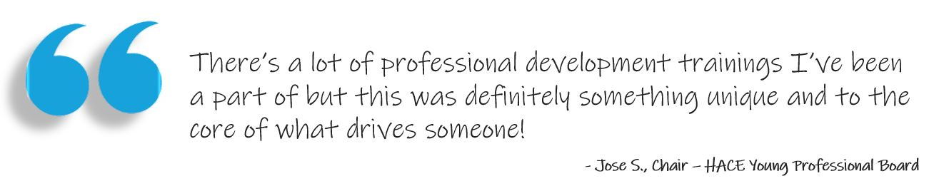 Young professional development quote